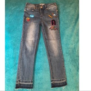 Girls patchwork jeans